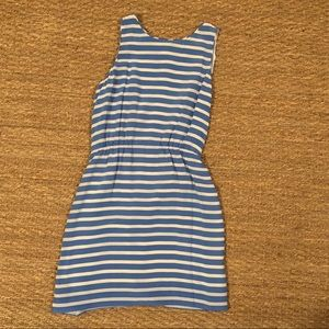 J Crew Blue and White stripped a-line dress!